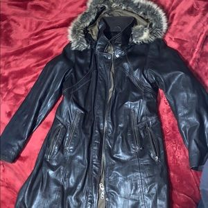Danier Leather Fur Coat